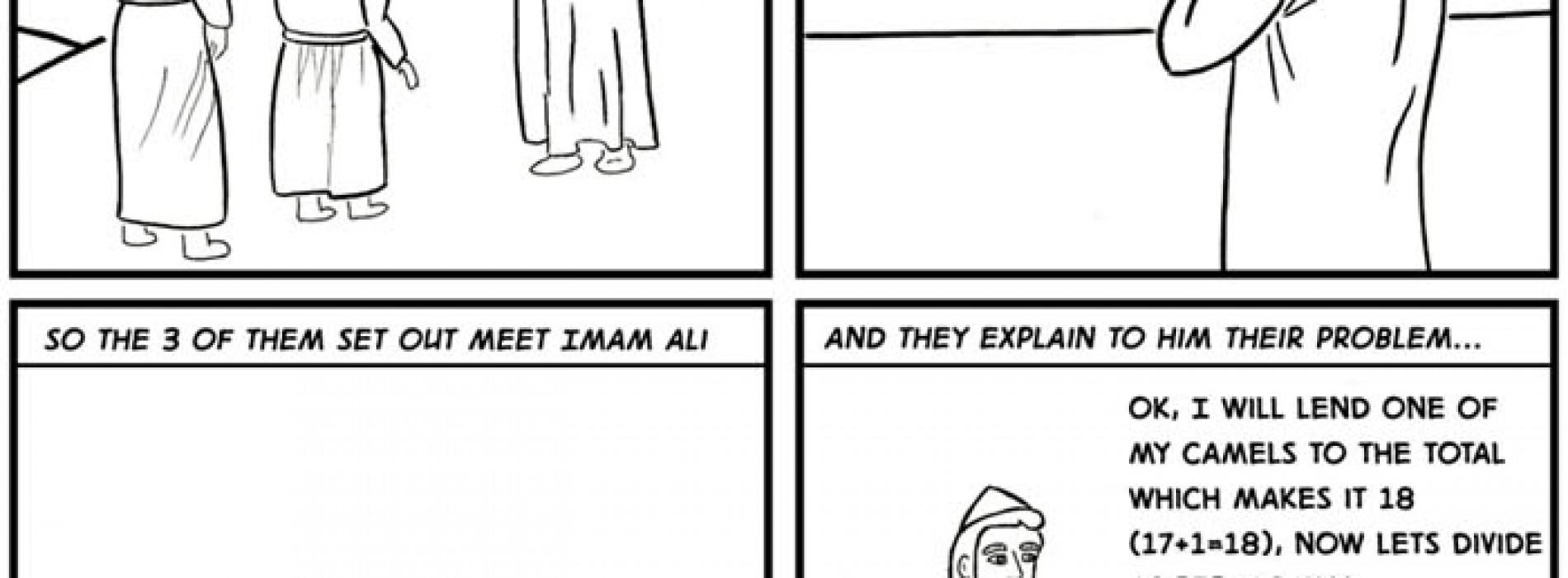 Dividing Seventeen Camels Between Three People
